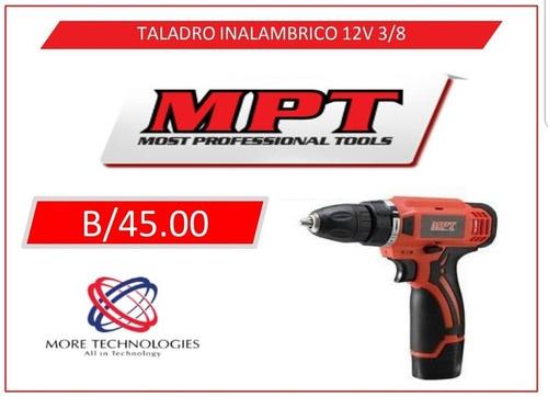 taladro inalambrico marca mpt 12v 3/8