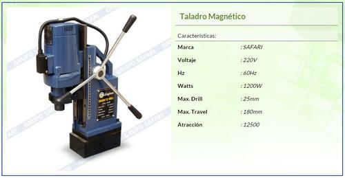 taladro magnetico 220v 60hz 1200w j1c-25s
