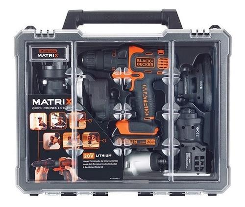 taladro matrix a bateria 6 en 1 black decker bdcdm6kitc 20v