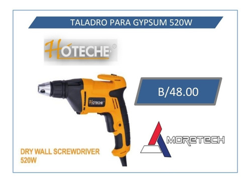 taladro para gypsum marca hoteche 520w