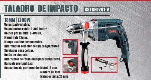 taladro percutor 13mm 1200w atornillador versa industrial