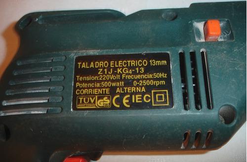 taladro percutor 13mm 500w -velocidad variable -doble rotac.