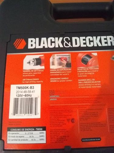 taladro percutor 3/8 500wts 2800rpm tm500k-b3 black&decker