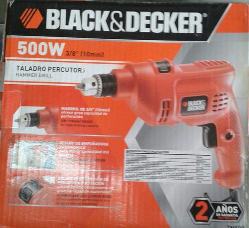 taladro percutor 500w 3/8  (10mm) black&decker.garant 2 años