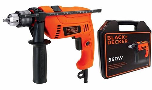 taladro percutor 550 w black + decker hd555k