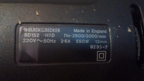 taladro percutor balck and decker 13mm ingles sin uso 2veloc