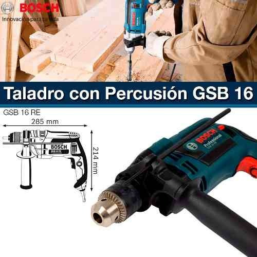 taladro percutor bosch gsb 16 re 700 w vel variable cuotas