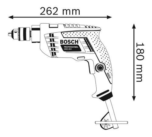 taladro percutor bosch gsb 450 re 10mm 450w veloc. variable