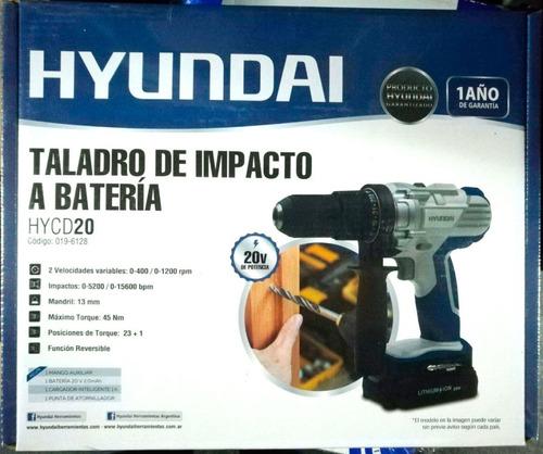 taladro percutor hyundai 20v 13mm inalambrico - cuotas