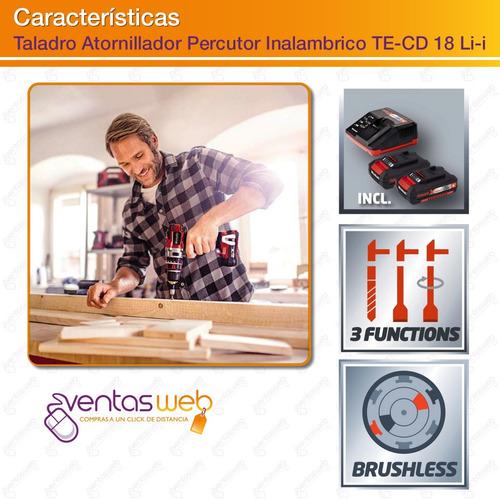 taladro percutor inalambrico brushless 2 baterias 32 puntas