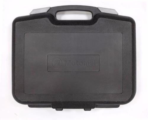 taladro percutor motomel + kit (mt-1k) nuevo maletín gtía