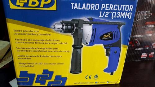taladro percutor reversible 1/2  810w 110v marca bp