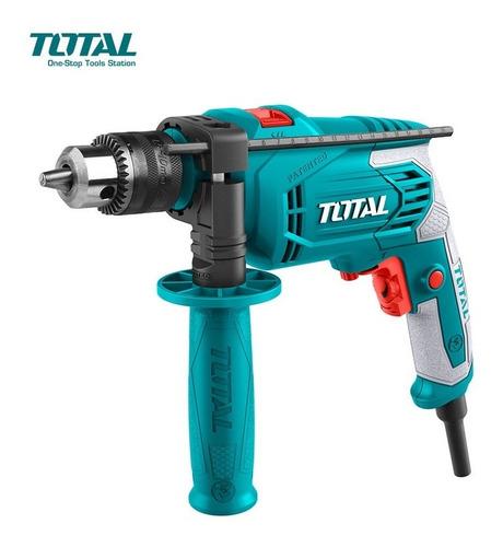 taladro percutor total 650 w 13 mm tg1061336 + accesorios