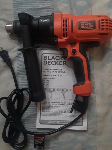 taladro/destornillador black decker  dr560, 1/2 in 7.0 amp.