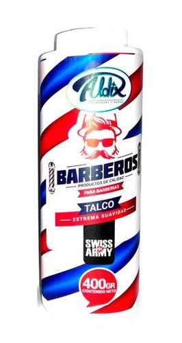 talco barberia barberos swiss army 400gr. edición limitada