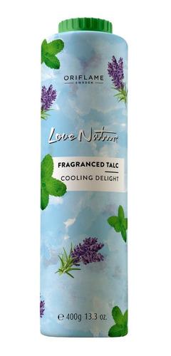 talco cuerpo love nature aroma menta lavanda 400 gr oriflame