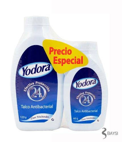 talco yodora promo x 120 g y 60 g.- efectiva protección