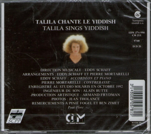 talila sings yiddish - cd