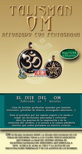 talisman con el mantra  om - reforzado con pentagrama