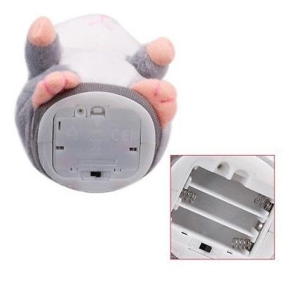 talking hamster ratón de felpa juguete sonido registro eléct
