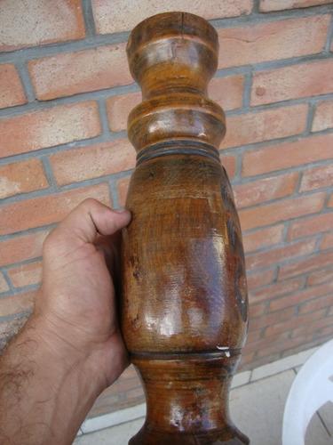 talla en madera para lampara,etc
