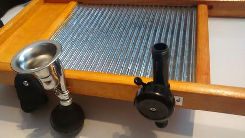 tallador kiosco musical washboard, timbre, corneta y envio