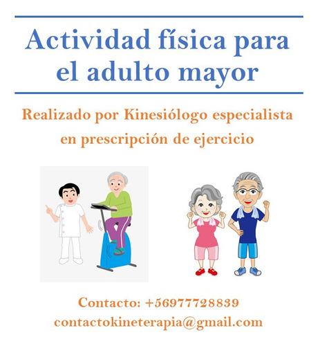 taller actividad física adultos mayores a domicilio