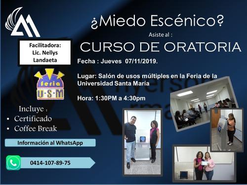 taller curso de oratoria, emprendimiento, tesis