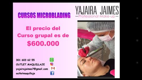 taller curso microblading pelo a pelo pestaña 3d maquillaje