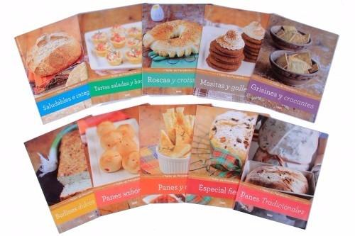 taller de 10 libros con recetas de panadería