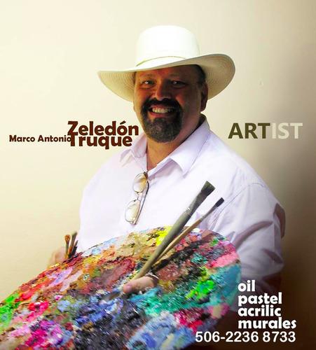 taller de arte con el artista marco zeledón truque