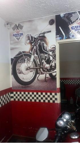 taller de motos muy bien ubicado