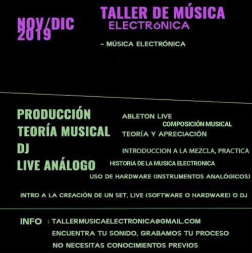 taller de música electrónica