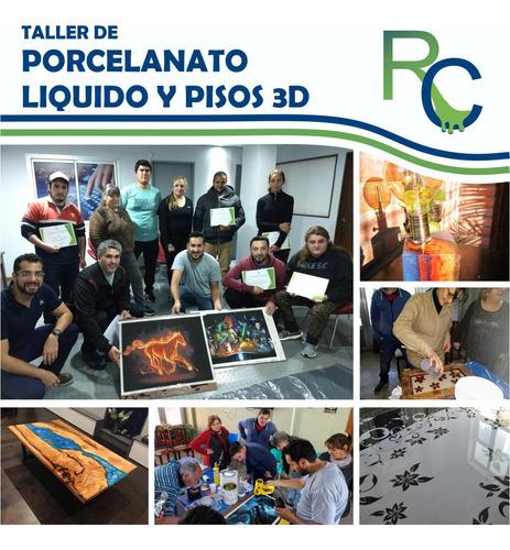 taller de porcelanato liquido y pisos 3d