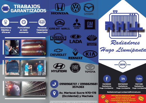 taller de radiadores precios econimicosy tanques de radiador