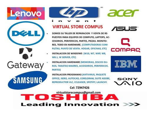 taller de reparacion y venta de repuestos para pc y laptop