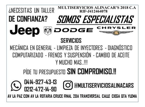 taller especializado jeep chrysler dodge
