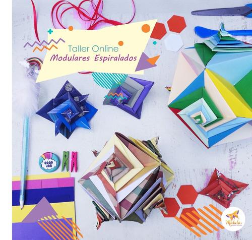taller online espirales modulares -  origami