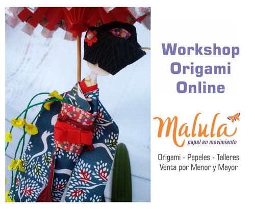 taller online ningyo washi doll + paraguas movíl origami