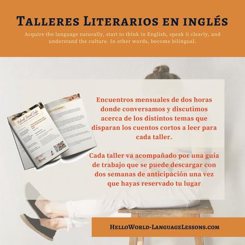 talleres literarios en inglés x skype. clases de inglés