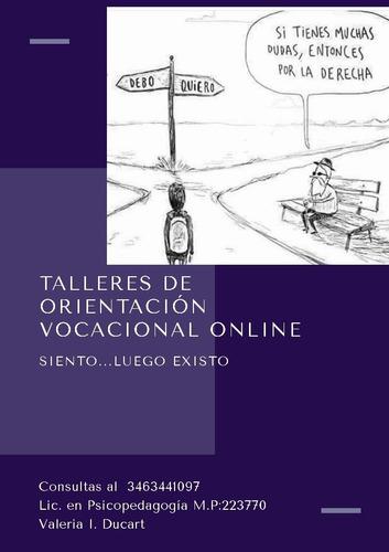 talleres online de orientación vocacional ocupacional