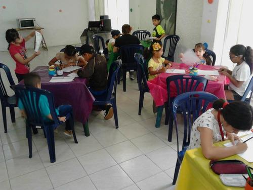 talleres para niños  mini reposteros, arte terapia, bailes..