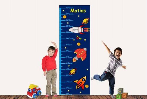 tallimetro vinilo adhesivo para niño y niña