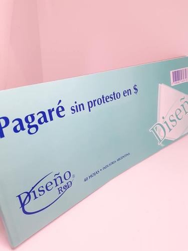 talonario pagare sin protesto en pesos diseño