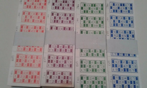talonarios cartones de bingo descartables loteria 1008 talo
