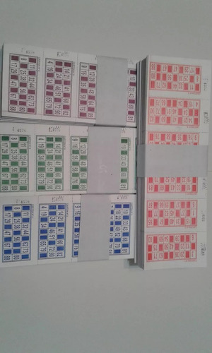 talonarios cartones de bingo descartables loteria 2016 talo