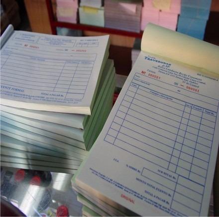 talonarios factura notas rebito crédito recibo recipe