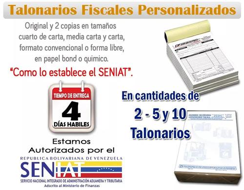 talonarios facturas fiscales seniat, recibos, recipes sellos