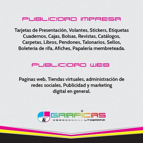 talonarios pendones sellos paginas web googleads facebookads