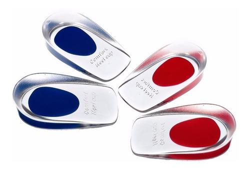 talonera de gel silicona deporte trabajo punto rojo y azul